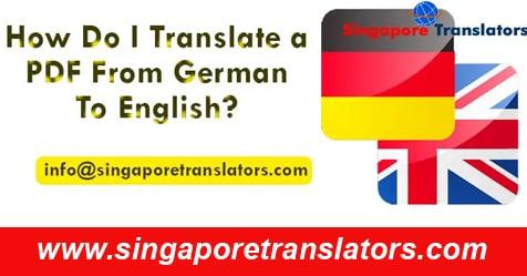 German pdf To English translation