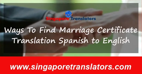 Marriage Certificate Translation Spanish to English