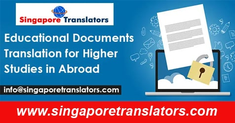 Educational Documents Translation for Higher Studies in Abroad