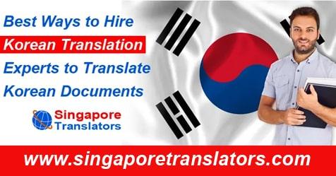 Hire Korean translations singapore