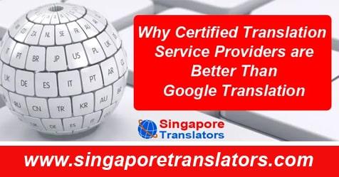 certified translation services & google translator