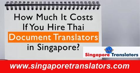 thai document translation cost