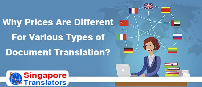 Why Prices Are Different For Various Types of Document Translation