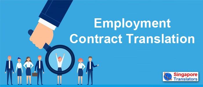 Employment Contract Translation singapore
