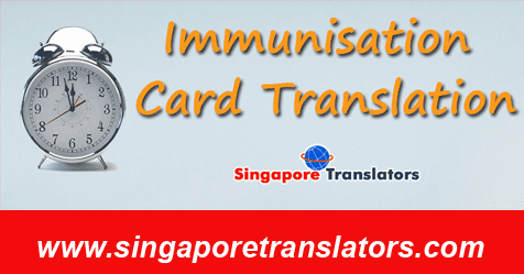 Immunisation Card Translation Services