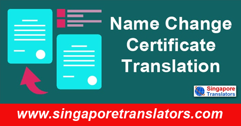 Name Change Certificate Translation