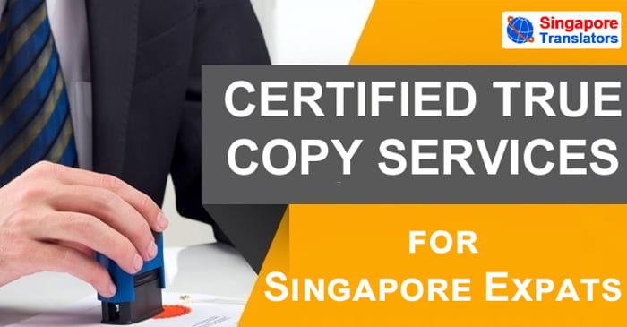 Certified True Copy Services Singapore